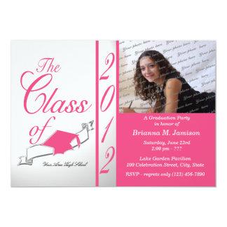 Class Graduation 2012 Pink 13 Cm X 18 Cm Invitation Card