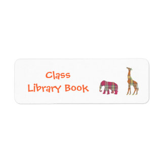 Class Library Book Plate Return Address Label