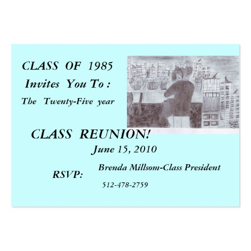 CLASS  OF  1985, Invites  You To :, ... Business Card