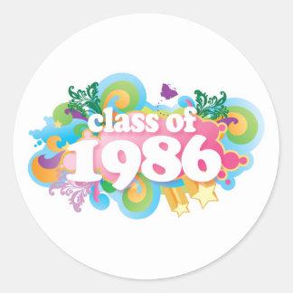 Class of 1986 round sticker