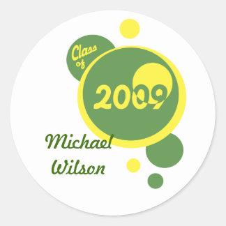Class of 2009 Bubbles Classic Round Sticker