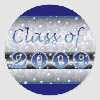 Class of 2009 bubbles round sticker