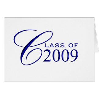 Class of 2009 Graduation - Blue - Blank Inside Card