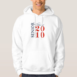 class of 2010 blue red hoodie