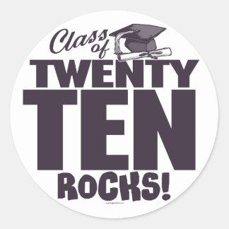 Class of 2010 Grad by Mudge Studios Round Sticker