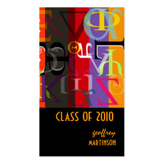 Class of 2010 /Greek life calling cards Pack Of Standard Business Cards