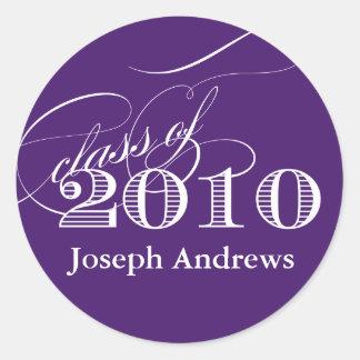 Class of 2010 Sticker- Customize it! Classic Round Sticker