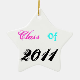 Class of 2011 ceramic star decoration
