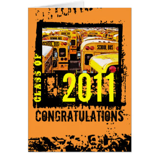 Class of 2011 Congratulations Card School Bus 3