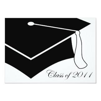 class of 2011 graduation cap 5x7 paper invitation card