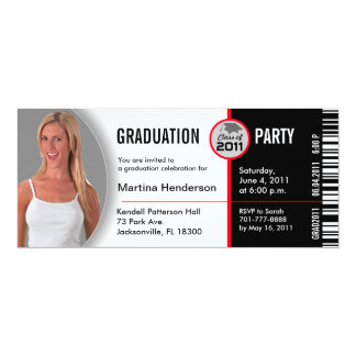 Class of 2011 Graduation Invitation TKT314 Ticket