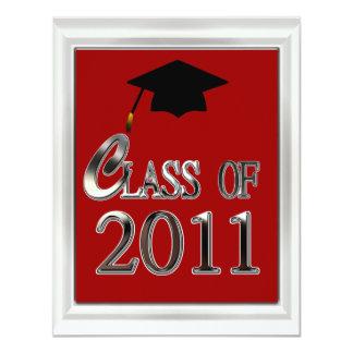 "Class Of 2011 Graduation Invitations 4.25"" X 5.5"" Invitation Card"