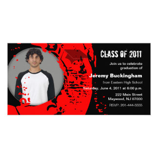 Class of 2011 Graduation Photo Card Red