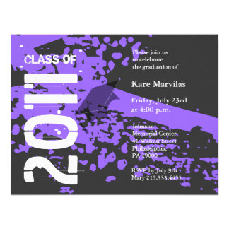 Class of 2011 Invitation ABV232 Purple Abstract