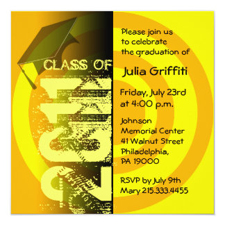 Class of 2011 Invitation CY224 Yellow Circle