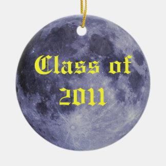 Class of 2011 Moon Round Ceramic Decoration