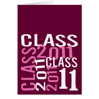 Class of 2011 note card