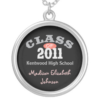 Class Of 2011 Peach Necklaces