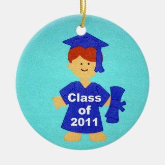 Class of 2011 round ceramic decoration
