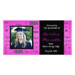 Class of 2011 Seniors Hot Pink Grad Announcement Photo Card Template