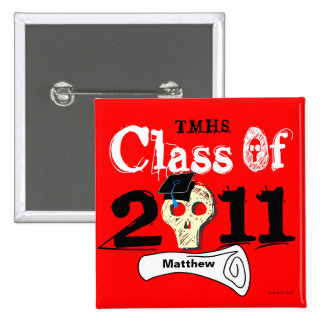 Class Of 2011 Skull Button 10 Add Name