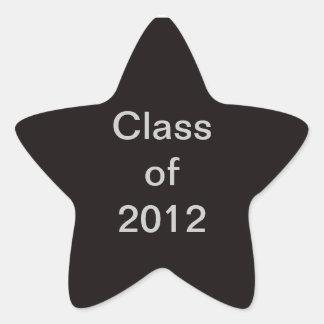 Class of 2012 Black Star Sticker