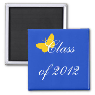 Class of 2012 - Blue and Gold Butterfly Magnet