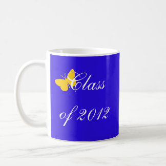 Class of 2012 - Blue and Gold Butterfly Basic White Mug