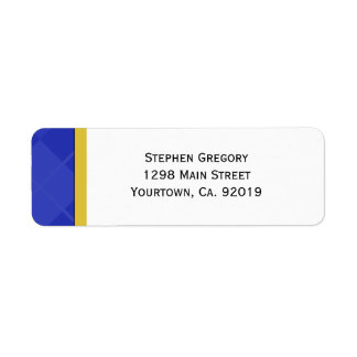 Class of 2012 Blue and Gold Graduation Return Address Label