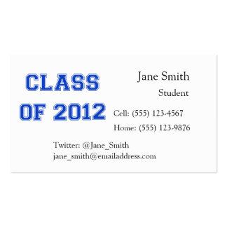 Class of 2012 - Blue Business Cards