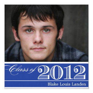 Class of 2012 Blue Graduation Announcement