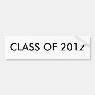CLASS OF 2012 BUMPER STICKER
