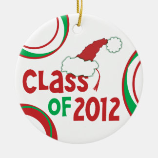 Class of 2012 Christmas w/Tassel - (double-sided) Round Ceramic Decoration