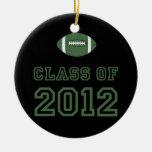 Class Of 2012 Football - Green 1 Christmas Ornaments