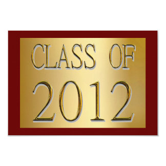 Class Of 2012 Gold & Red Graduation Invitations