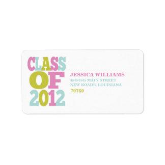 Class of 2012   Graduation Address Label