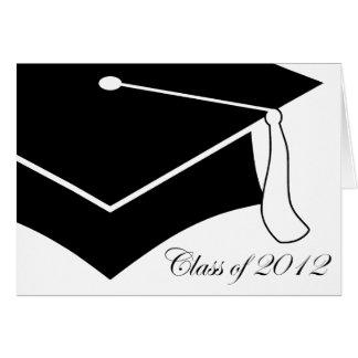 class of 2012 graduation cap greeting card