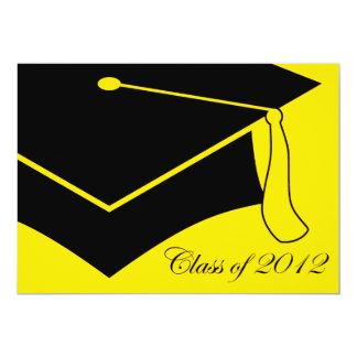 class of 2012 graduation cap 5x7 paper invitation card