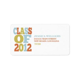 Class of 2012 | Graduation Address Label
