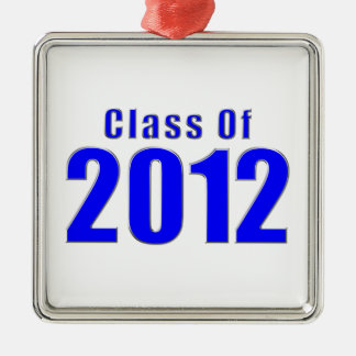 Class of 2012 Graduation Ornament Blue and Silver