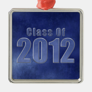 Class of 2012 Graduation Ornament Blue Grunge