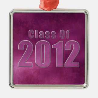 Class of 2012 Graduation Ornament Purple Grunge