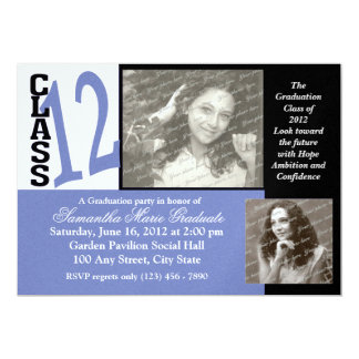 Class of 2012 Graduation Photo 13 Cm X 18 Cm Invitation Card