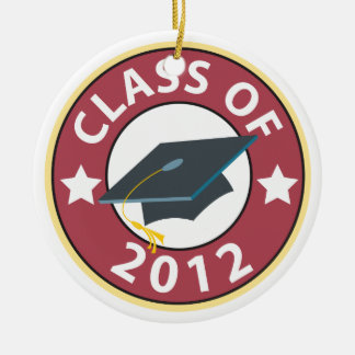 Class of 2012 Graduation Round Ceramic Decoration