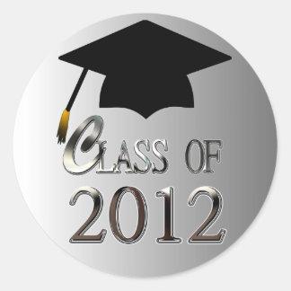 Class Of 2012 Graduation Round Sticker