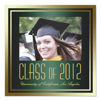 Class of 2012, Green and Gold Graduation Invite