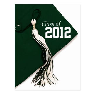 Class of 2012 Green Cap Graduation Postcard
