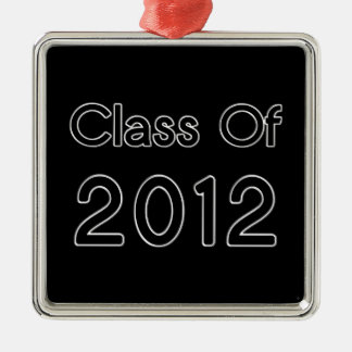 Class of 2012 Ornament Black and Chrome