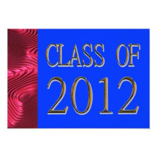 Class Of 2012 Patriotic Graduation Invitations