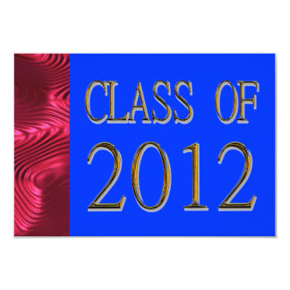 Class Of 2012 Patriotic Graduation Invitations